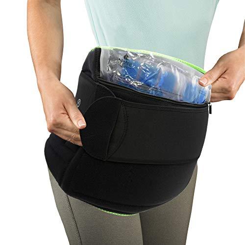 NatraCure Wärme- oder Kälte-Bandage zur Linderung von Hüft- und Rückenschmerzen, Größe L/XL (zur Linderung von steifen Hüften und Rücken, Entzündungen, Hüftchirurgie und Arthritis)