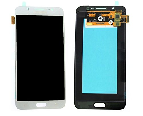 Original Samsung Galaxy J7 (2016) J710F J710 AMOLED LCD Display Touchscreen Digitizer Glas Service Ersatzteil Einheit Weiß GH97-18855C