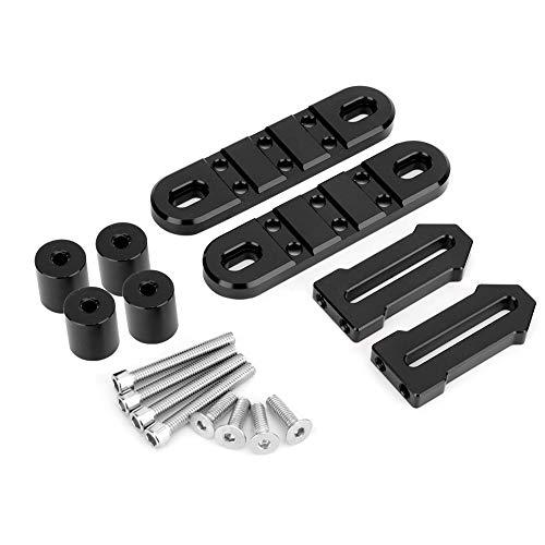 Motorrad-Metallhalterung, Halterung f¨¹r Frontfender-Scheinwerfer aus CNC-Aluminiumlegierung f¨¹r Yamaha(Schwarz)
