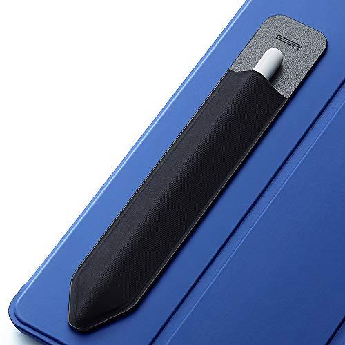 ESR Pencil Hülle kompatibel mit dem Apple Pencil (1. & 2. Generation) - Elastische Pencil Halter für Stylus Pen [sicherer Pencil Schutz] - Pencil Hülle mit Selbstklebender Rückseite - Schwarz
