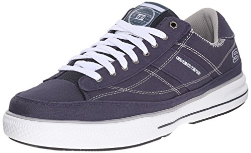Skechers Men's Arcade Chat MF Fashion Sneaker, Blue (NVW), 7.5 UK 41 1/2 EU