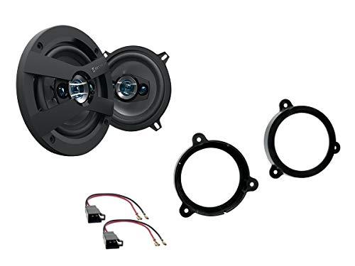 NIQ Renault Wind Lautsprecher Einbauset (Türe Front oder Heck) inkl. Scosche HD5254 130mm 3 Wege Triaxial Lautsprecher 200Watt