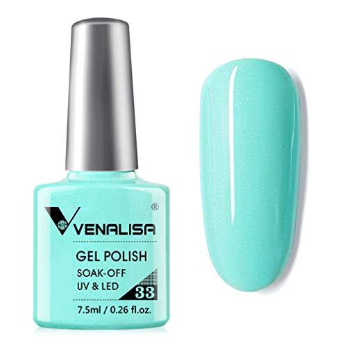 VENALISA Gel Nail Polish - Light Green Color Soak Off UV LED Nail Gel Polish Nail Art Starter Manicure Salon DIY at Home