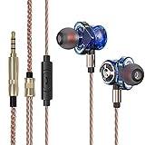 Auriculares JHMAOYI Auriculares con Cable Subwoofer de Metal Auriculares intrauditivos móviles de 3,5 mm
