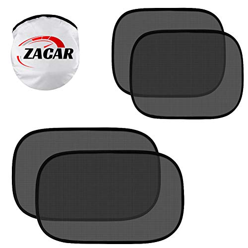 Product Image of the ZACAR Car Window Shade (4 Pack), Baby Car Sun Shade, Cling Baby Shade for Car -...
