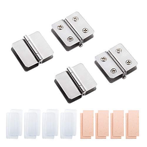 INCREWAY - Bisagra ajustable de acero inoxidable con doble cara para puerta de cristal de baño, ducha, armario, muebles, cristal adaptable, 5 – 8 mm