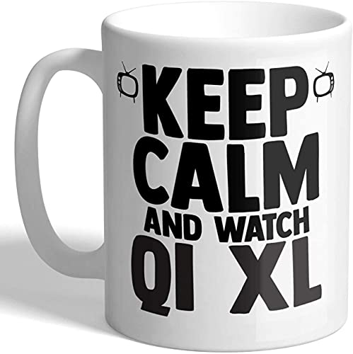 Beets Keep Calm and Watch QI XL - Taza
