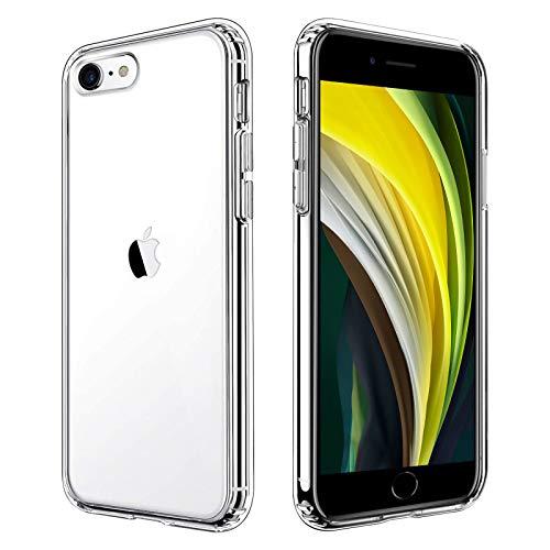 Seomusen Coque Compatible avec iPhone Se 2020/7/8,Transparente Étui Housse Cadre en Silicone TPU + PC Retour Protection Intégrale Antichoc Anti-Rayures Coque Compatible avec iPhone Se 2020/7/8(4.7'')