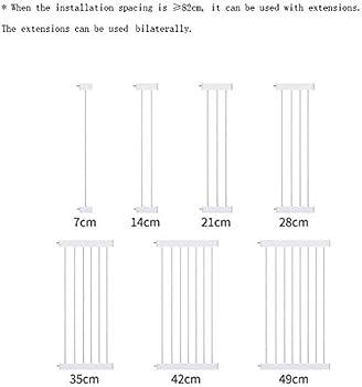 Mirui Sécurité Pression Fit Porte en métal Supports 78cm de Haut La Largeur Peut être sélectionnée de 75 à 180cm Porte bébé Pet Porte avec Les Extensions Disponibles (Size : 159-166m)