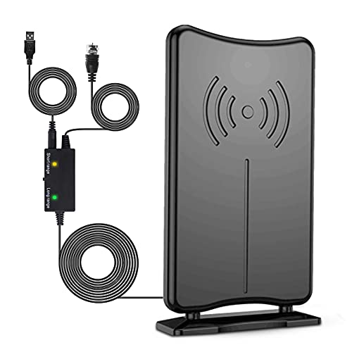 Kiteca HDTV Digital Antenna Indoor/Outdoor - Amplifier Signal Booster Omnidirectional Antenna Long Range 200+ Miles,4K 1080P Local Channels Uhf/VHF Antenna for Smart TV,17ft Coax Cable