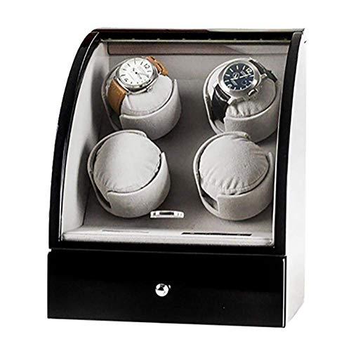 CCAN Relojes Bobinadoras automáticas de Relojes con Motor japonés Mabuchi Caja de presentación Caja de Almacenamiento de Madera