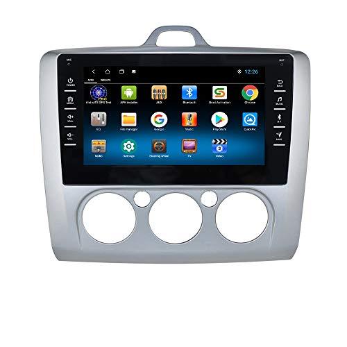 Navegación GPS con Radio de Coche Android 10 con Pantalla táctil de 8 Pulgadas para Ford Focus Exi MT 2 3 Mk2 / Mk3 2004-2011, Compatible con cámara de visión Trasera USB SWC Bluetooth EQ (Plateado)