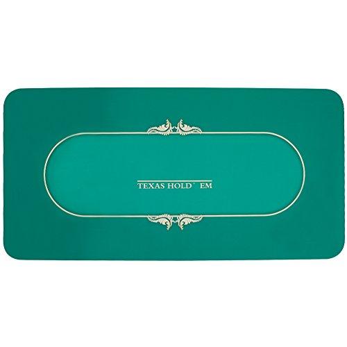 "GAMELAND 70""x35""Professional Rubber Foam Poker Table Top Layout Rectangular Poker Mat"