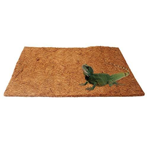 POPETPOP Fodera per lettiera Traspirante per Animali Domestici in Fibra di Cocco Naturale 50x30cm
