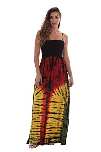 Riviera Sun Rasta Long Smocking Dresses for Women 21932A-M