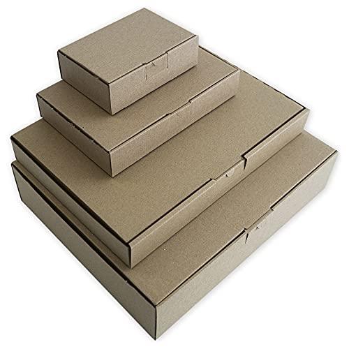 Cajas de Cartón Envíos Automontables Pequeñas o Grandes Paquetería Kraft Postal Ropa Producto. Tamaño y Unidades (35 x 25 x 5 cm 25 UDS)