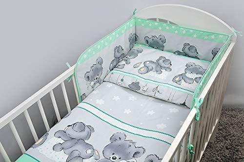 5-teiliges Baby Kinder-Bettwäsche-Set für 120 x 60 oder 140 x 70 cm