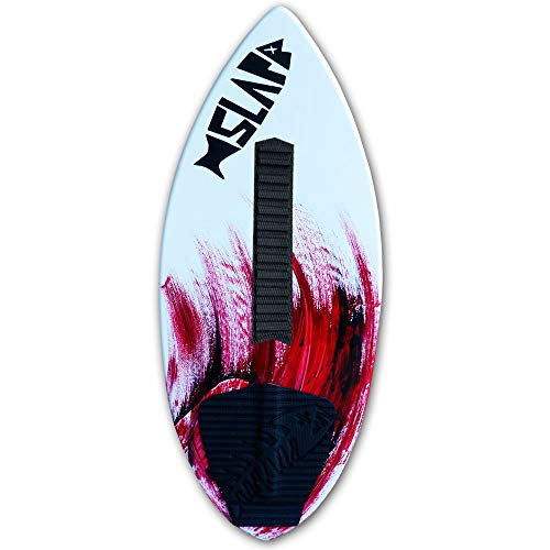Slapfish Skimboards USA Made Fiberglass & Carbon - Riders up to 225 lbs - 48' with Traction Deck Grip - Kids & Adults - 4 Colors (Red + Arch)