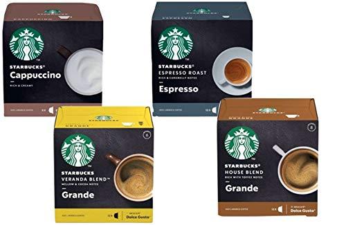 NESCAFÉ® Dolce Gusto® - Starbucks® Set Deluxe - Kaffee - Cappuccino - Espresso