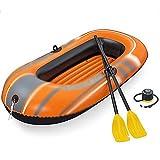 NEHARO Kayaks Durable espesante Kayak Barco de Pesca al Aire Libre Inflable Barco Inflable Kayak para la Playa (Color : Orange, Tamaño : 184x91x37cm)