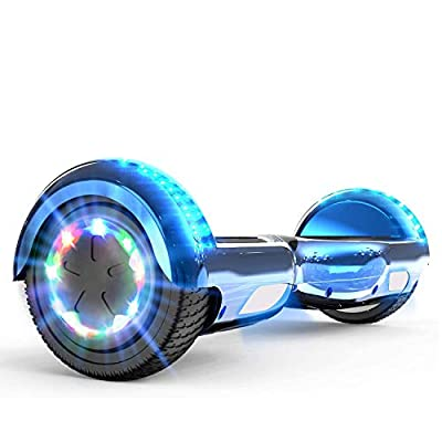 """MARKBOARD Self Balancing Scooter 6.5"""" Skateboard Built in Bluetooth Speakers Electric Scooter Hoverboard Segway with LED lights & 700W Motor Gift for kids"""