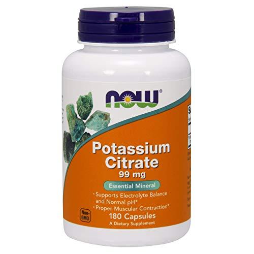 Now Foods Citrato de Potasio, 99 Mg, 180 Unidades, 150 g