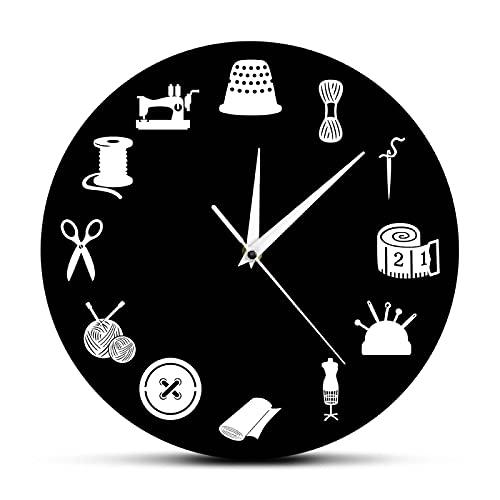 Reloj de Pared Decoración de habitación de Costura Reloj de Pared Moderno...