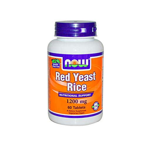 NOW Supplements, Red Yeast Rice 1200 mg, 60 Tablets