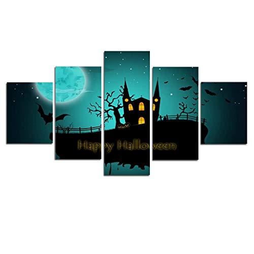 LQH Arte de la Pared Poster decoración casera Moderna 5 de Navidad Decoraciones de Halloween HD Pri (Size : 3)