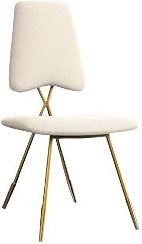 LLYU Modern Dining Chair backrest Metal Lounge Chair high Stool Garden Chair, Makeup Chair