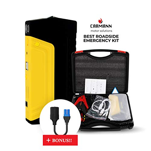 Buy Discount Carmann Portable Car Battery Jump Starter 50800 mAh, Compact 12V/16V/19V Powerful 600A