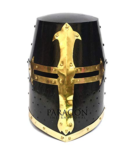 Armor Helmet Ancinet Inspired Roman Guard Helmet Pearl Black Crusader Helmet