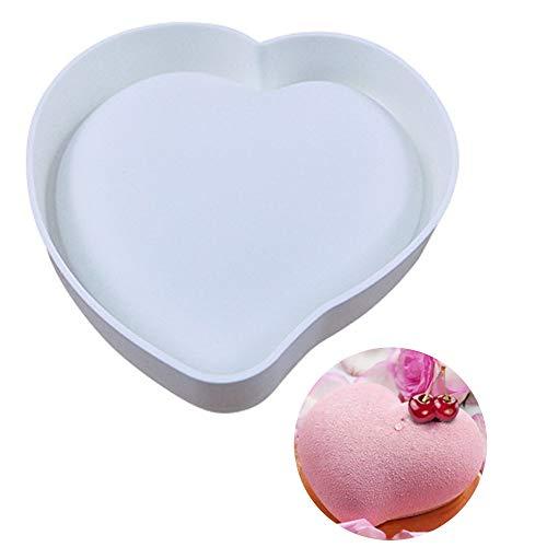 ALUYF Molde de Silicona en Forma de corazón 3D Love Molde para Hornear Geométrico Corazón Molde de Silicona 3D Love Heart para Navidad Decorar Pasteles de Chocolate Dulce