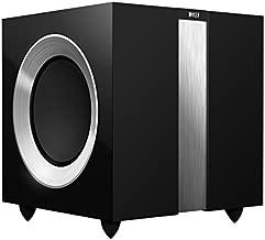 KEF R400GB R400b Front Firing Powerful Subwoofer - High Gloss Piano Black (Single)