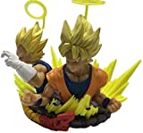 LJXGZY Dragon Ball Z Gogeto Bust Fit Guji Sun Goku Vegeta en Caja 12CM Escultura Modelo de Regalo Ob...