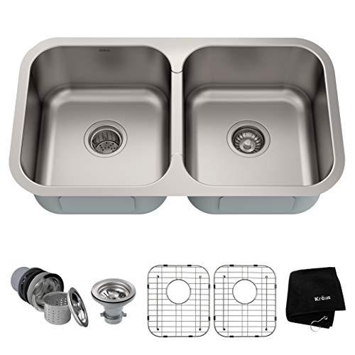 18 Gauge Stainless Steel Undermount Kitchen Sink Double Bowl