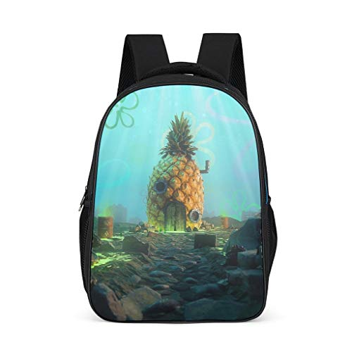 Cyliyuanye Sponge Baby Pineapple Fashion Kids' Backpack School Book Bag For kids Adults Gift For Boys Girls bright gray onesize