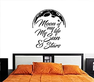 FSDS Wall Decal Moon of My Life My Sun & Stars Quote Game of Thrones Vinyl Home Bedroom Decor