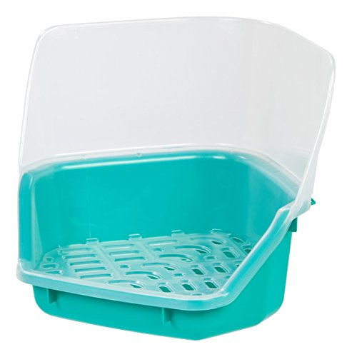 IRIS Rabbit Litter Pan with Scoop, Seafoam Green