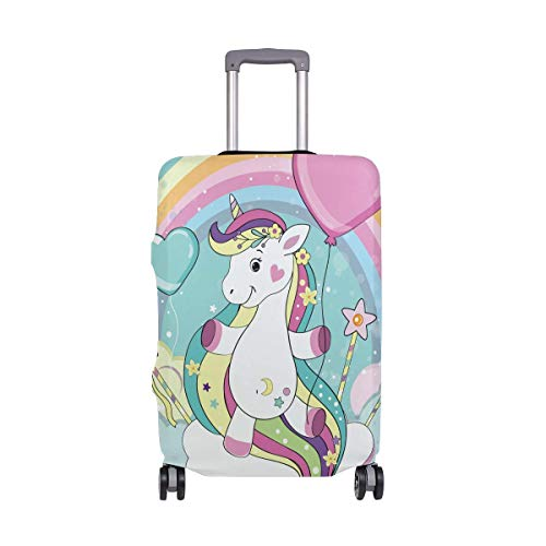 Cartoon Unicorn Horse Rainbow Luggage Cover Baggage Suitcase Travel Protector Size M