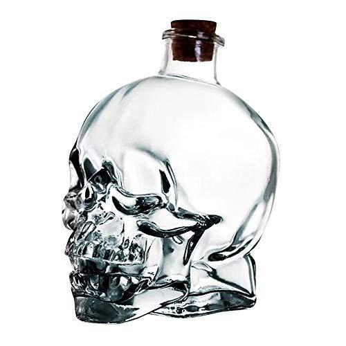 FAMILIZO Tazas Grande Cráneo De Vidrio Grande Boticario Frasco Botella Jarra Esqueleto...