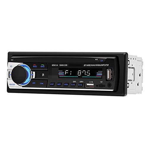 DAUERHAFT Radio FM para automóvil Reproductor de MP3 USB Bluetooth Manos Libres Bluetooth Radio para automóvil Reproductor de MP3 Radio FM para automóvil Reproductor de MP3, para Cualquier Formato de