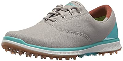Skechers Performance Women's Go Golf Elite Canvas Golf Shoe,White/Pink,6 M US