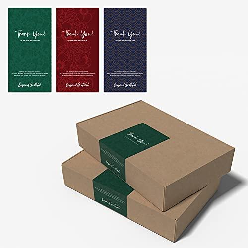 Rcherish Pegatinas de Agradecimiento, 3 Pegatinas de Agradecimiento Diferentes, Pegatinas Decorativas Personalizadas, Pegatinas de Sellado Autoadhesivas, 3 * 150 Piezas