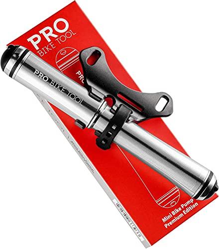 PRO BIKE TOOL Mini Bike Pump Premium Edition - Passend für Presta- und Schrader-Ventile - Hochdruck PSI - Fahrrad-Reifenpumpe für Rennräder und Mountainbikes