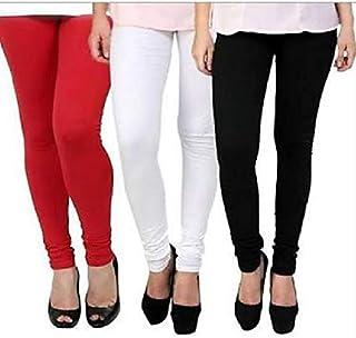 Ezee Sleeves Women's Cotton Leggings Combo Set of 3 | Legging for Women | Legging Combo Set | Cotton Leggings