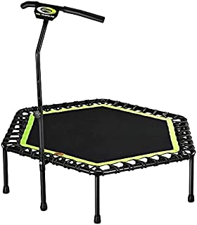 Lee Fitness Hexagonal Trampoline With Adjustable Lifting Armrests - Green/Black - 48 Inch
