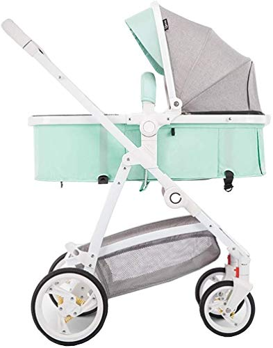Review TZZ Baby Stroller, Easy Transport and Storage Buggy Foldable Baby Pram with Backrest for Todd...