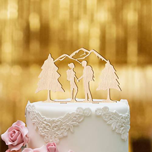 Dankeskarte.com Decoración para tarta de boda, madera de haya, tamaño XL, decoración para tartas, decoración para tartas, figura de boda, decoración para tartas, Mr Mrs