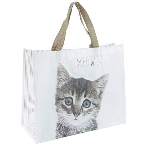 Einkaufstasche Meow Katze Design aus stabilem Polypropylen
